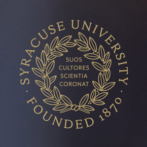 Close-up of University Seal on Lamp Shade