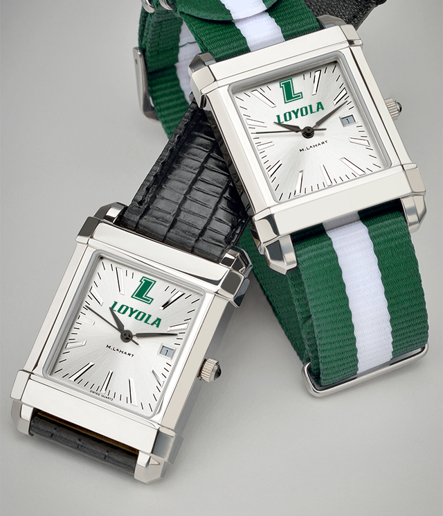 Loyola University Men's Watches. TAG Heuer, MOVADO, M.LaHart