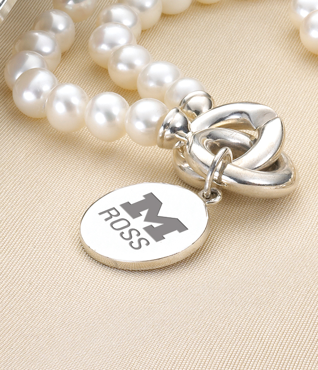 Ross School of Business Jewelry for Women - Sterling Silver Charms, Bracelets, Necklaces. Personalized Engraving.