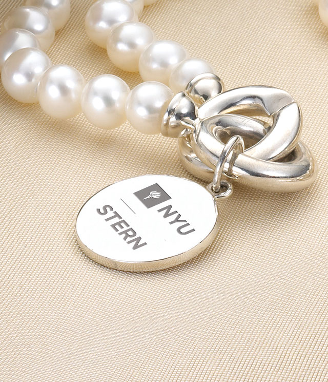 NYU Stern Jewelry for Women - Sterling Silver Charms, Bracelets, Necklaces. Personalized Engraving.