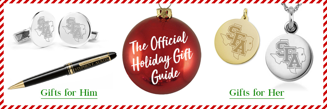 The Official Holiday Gift Guide for Stephen F. Austin State