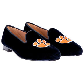 Stubbs & Wooton Cotton-Velvet Slippers