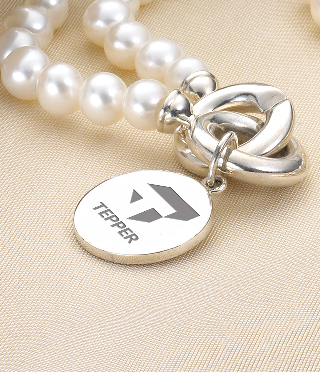 Tepper School of Business Jewelry for Women - Sterling Silver Charms, Bracelets, Necklaces. Personalized Engraving.