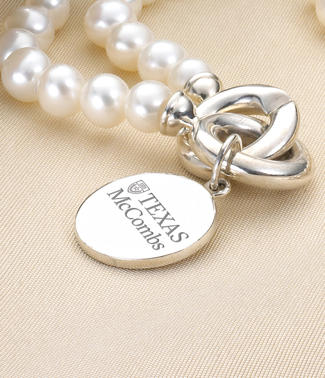 Texas McCombs Jewelry for Women - Sterling Silver Charms, Bracelets, Necklaces. Personalized Engraving.