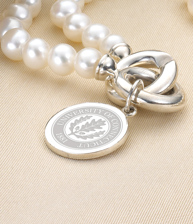 UConn Jewelry for Women - Sterling Silver Charms, Bracelets, Necklaces. Personalized Engraving.