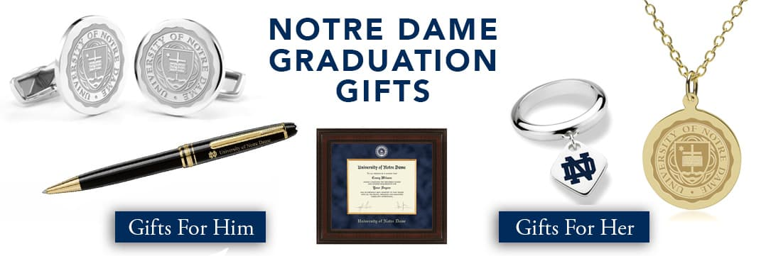 Notre Dame Graduation Gifts for Her and for Him
