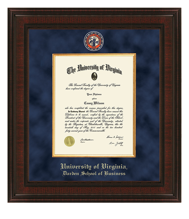 UVA Darden Picture Frames and Desk Accessories - UVA Darden Commemorative Cups, Frames, Desk Accessories and Letter Openers