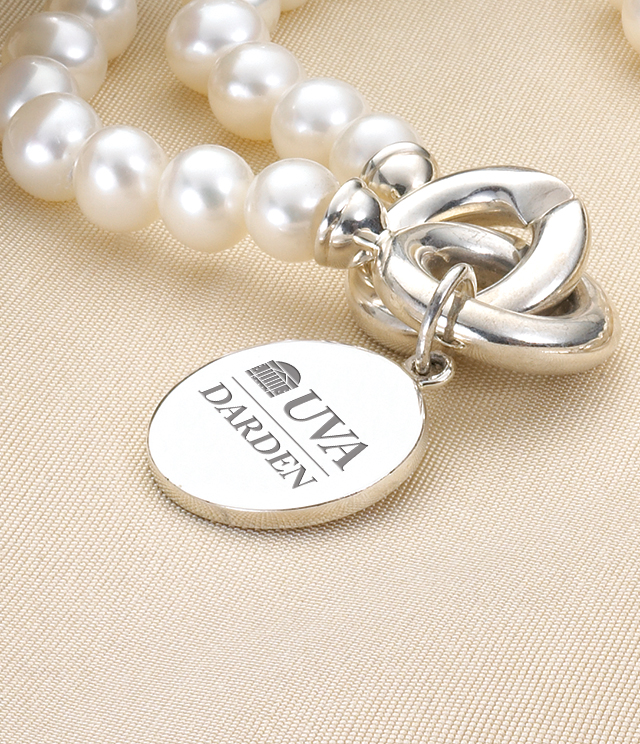 UVA Darden Jewelry for Women - Sterling Silver Charms, Bracelets, Necklaces. Personalized Engraving.