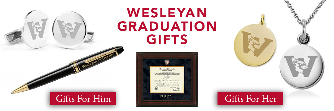 Wesleyan University Graduation Gifts for Her and for Him