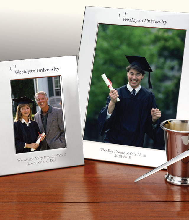 Wesleyan University Picture Frames and Desk Accessories - Wesleyan University Commemorative Cups, Frames, Desk Accessories and Letter Openers