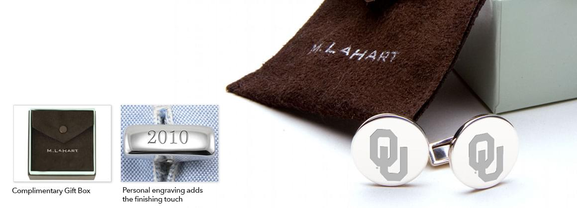 Mens Sterling Silver and Gold Cufflinks, Money Clips