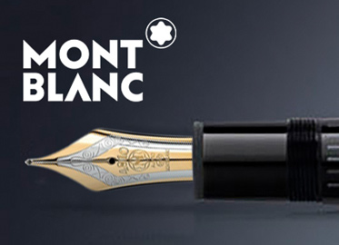 Montblanc Logo & Close-up Gold and Silver Fountain Pen Tip